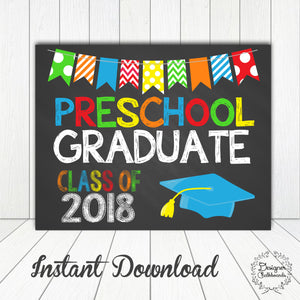 Preschool Graduation Sign