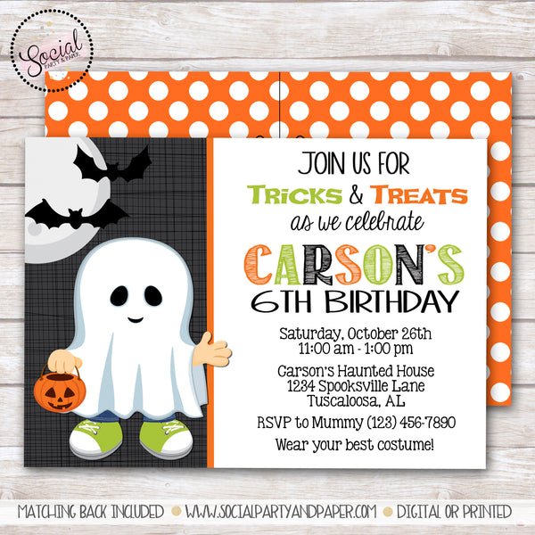 Halloween Boy Birthday Party Invitation