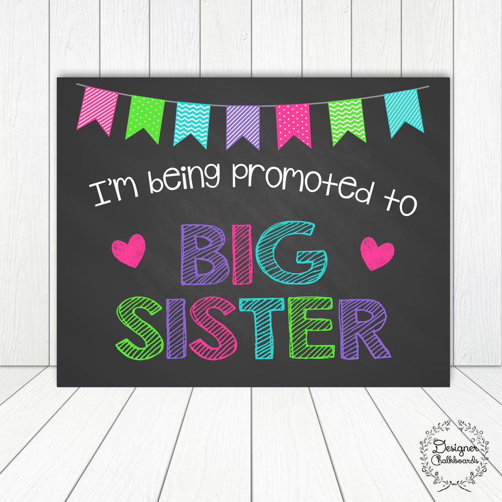 Big Sister Pregnancy Announcement Sign