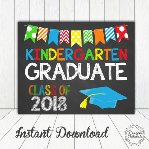 Kindergarten Graduation Sign