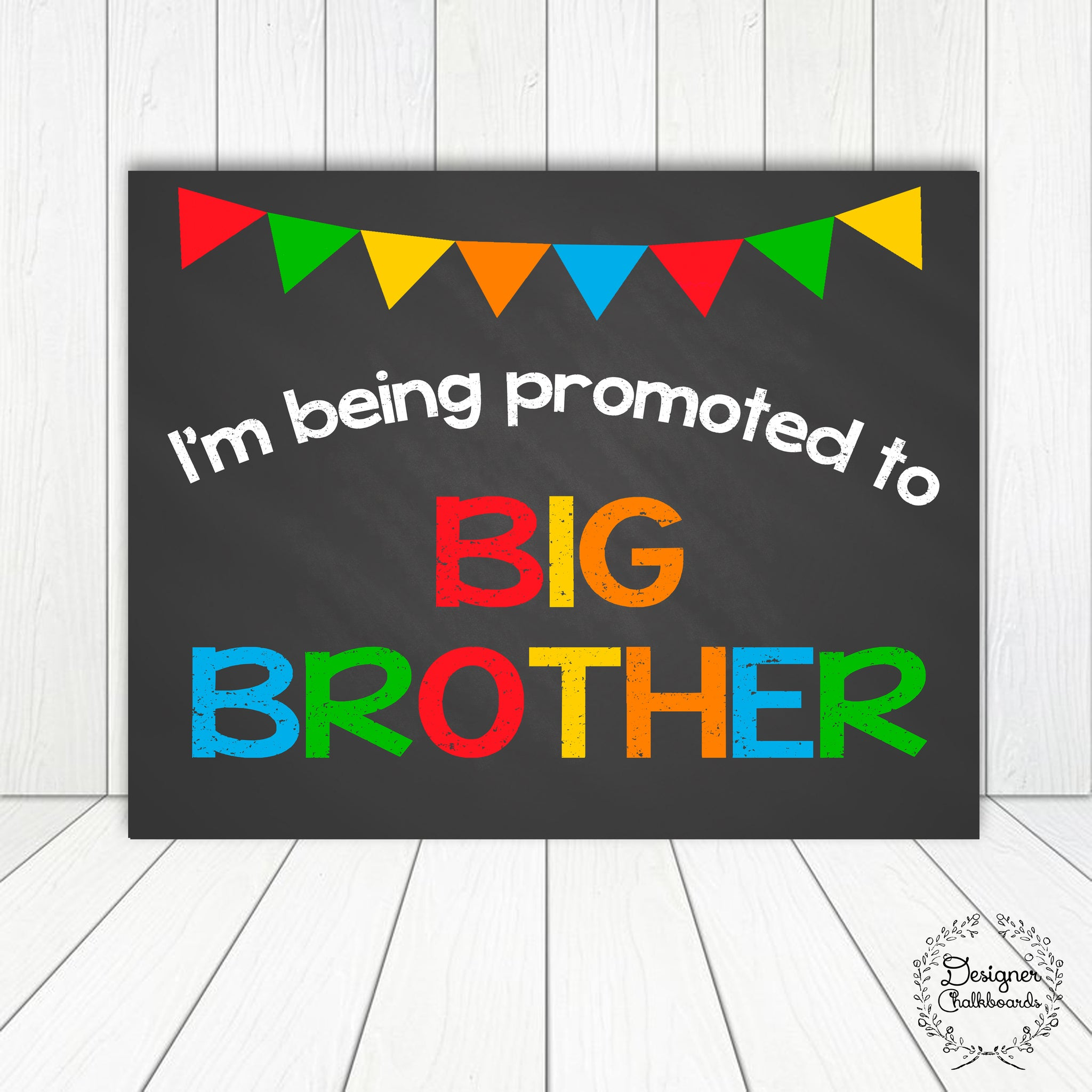 Big Brother Pregnancy Announcement Sign