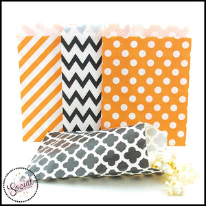 Orange, Black and White Treat Bags