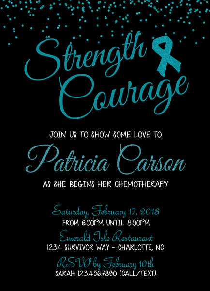 Ovarian Cancer Party Invitation