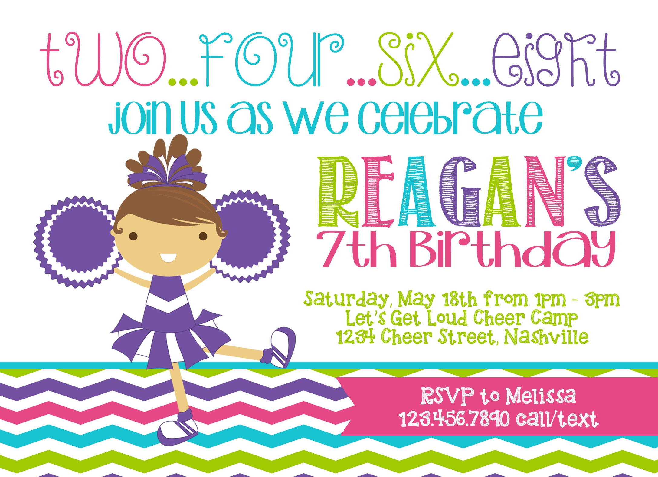 Cheerleader girl birthday party invitation social party paper cheerleader girl birthday party invitation cheerleader girl birthday party invitation filmwisefo