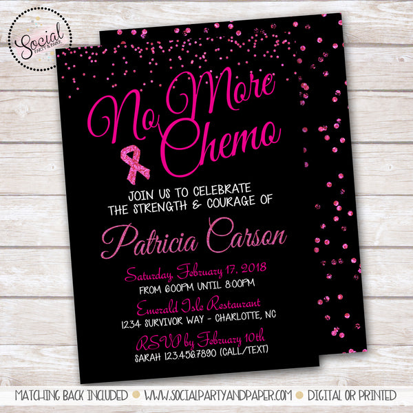 Breast Cancer No More Chemo Invitation