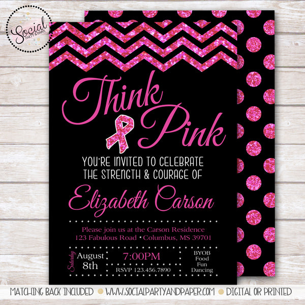 Breast Cancer Party Invitation