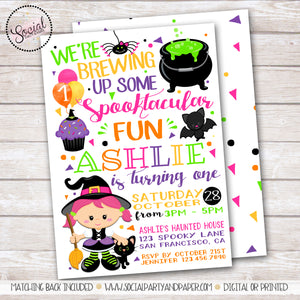 Halloween Fun Girl Birthday Party Invitation