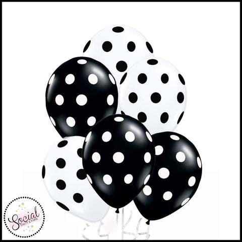 Black and White Polka Dot Balloons
