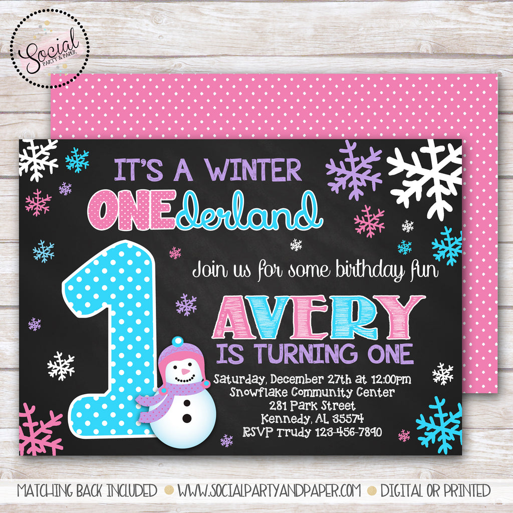 Girl Birthday – Social Party & Paper