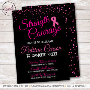 Breast Cancer Survivor Party Invitation