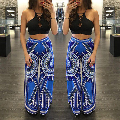 Exumo Boho High Waist Flare Trousers