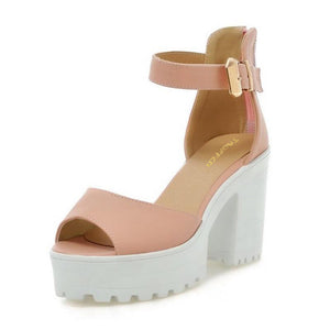 Ankle Strap High Heels Shoes - Susoco