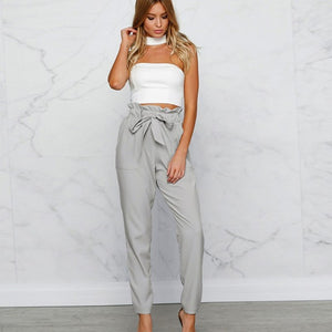 Janice Bow Tie Drawstring Trousers - Susoco