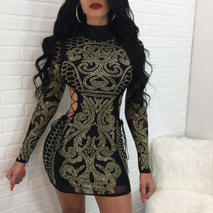 Hollow out Turtleneck Bodycon Dress