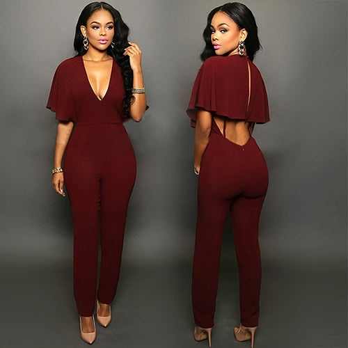 Blair Batwing Sleeve Bodycon Jumpsuit