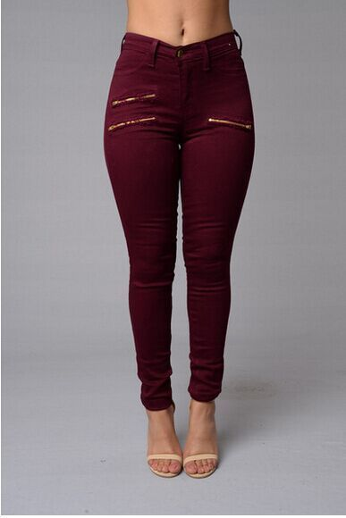 Jess High Waist Zipped Trouser