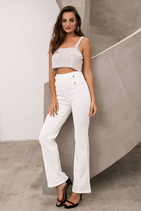 High Wasited Wide Leg Maxi Pants