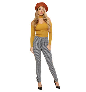 Slim High Waist Trousers