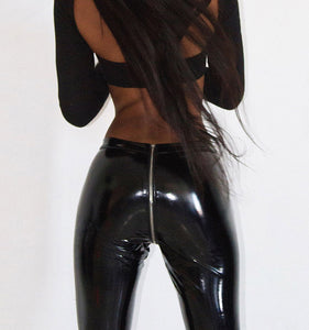 PU leather Pencil Pants