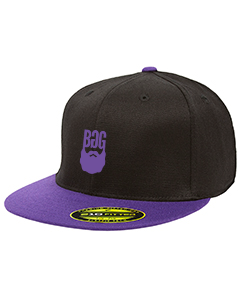 BeardedGuysGaming Black with Purple FlexFit Hat