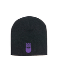 BeardedGuysGaming Black with Purple Beanie