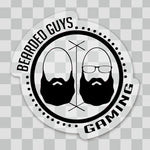 BeardedGuysGaming Dual Beard (Black Logo) Sticker