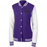 BeardedGuysGaming Dual Beard (Black Logo) Women's Fleece Letterman Jacket