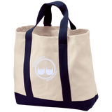 BeardedGuysGaming Dual Beard (White Logo) 2-Tone Shopping Tote