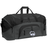 BeardedGuysGaming Dual Beard (White Logo) Colorblock Sport Duffel