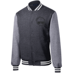 BeardedGuysGaming Dual Beard (Black Logo) Fleece Letterman Jacket