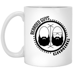 BeardedGuysGaming Dual Beard (Black Logo) Coffee Mug 11oz