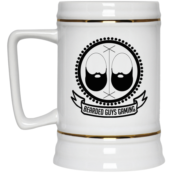 BeardedGuysGaming Vintage Logo Beer Stein 22oz.