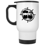 BeardedGuysGaming Pirate (Black Logo) White Travel Mug