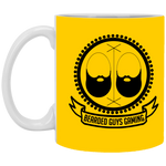 BeardedGuysGaming Vintage Logo White Mug 11oz