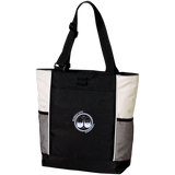BeardedGuysGaming Dual Beard (White Logo) Colorblock Zipper Tote Bag