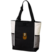BeardedGuysGaming Single Beard Logo Colorblock Zipper Tote Bag