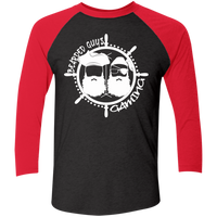 BeardedGuysGaming Pirate (White Logo) Baseball Tee