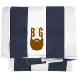 BeardedGuysGaming Single Beard Logo Cabana Stripe Beach Towel