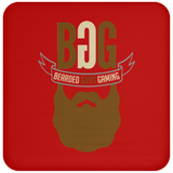 BeardedGuysGaming Single Beard Logo Coaster