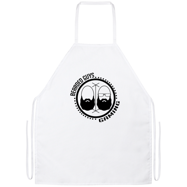 BeardedGuysGaming Dual Beard (Black Logo) Apron