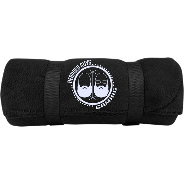 BeardedGuysGaming Dual Beard (White Logo) Fleece Blanket