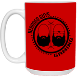 BeardedGuysGaming Dual Beard (Black Logo) 15oz Mug
