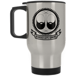 BeardedGuysGaming Vintage Logo Silver Stainless Travel Mug