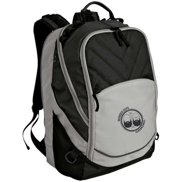 BeardedGuysGaming Dual Beard (Black Logo) Laptop Computer Backpack