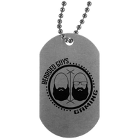 BeardedGuysGaming Dual Beard (Black Logo) Dog Tag