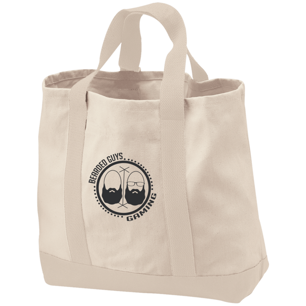 BeardedGuysGaming Dual Beard (Black Logo) 2-Tone Shopping Tote