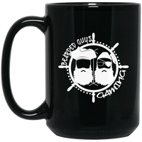 BeardedGuysGaming Pirate (White Logo) 15 oz. Mug
