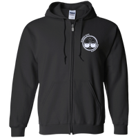 BeardedGuysGaming Dual Beard (White Logo) Zip Up Hooded Sweatshirt