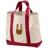 BeardedGuysGaming Single Beard Logo 2-Tone Shopping Tote