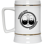 BeardedGuysGaming Dual Beard (Black Logo) Beer Stein 22oz.